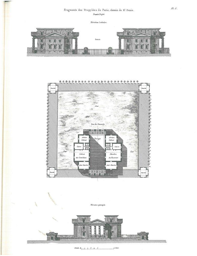 Claude Nicolas Ledoux - Fragments de Propylèe, Chemin de St. Denis