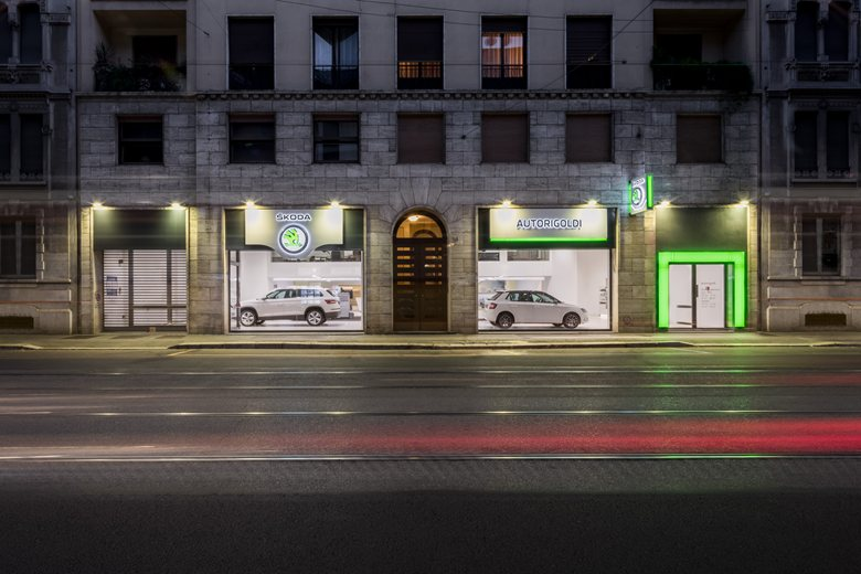 Car Showroom in Milan