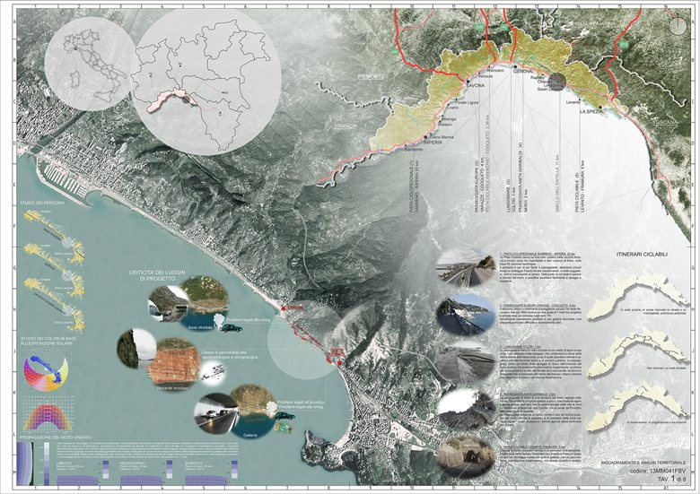 Concorso di progettazione per la costruzione di un percorso ciclo pedonale litoraneo tra Lavagna e Sestri Levante