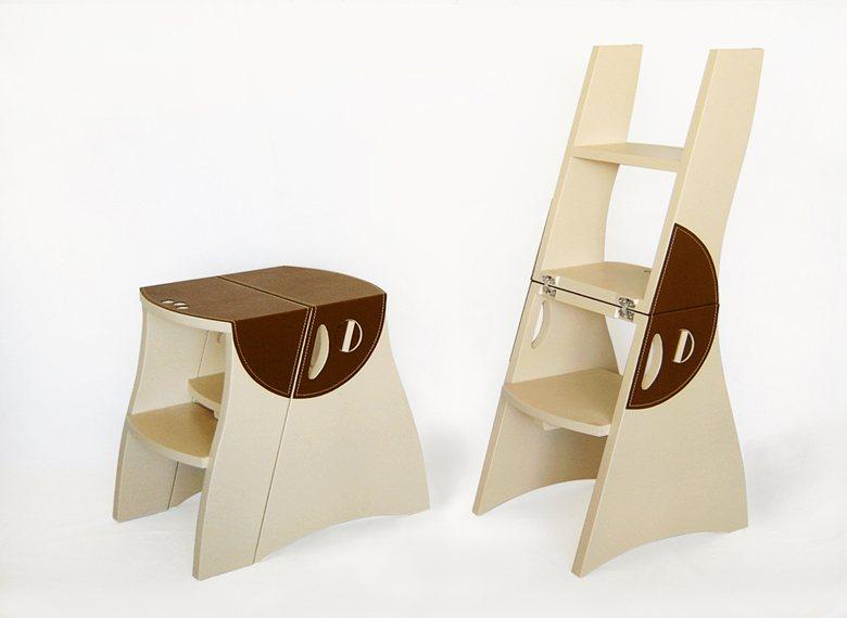 Banco Escada TATU  couro - dobradiça invisível - botão de abertura da trava. Informações e vendas - 55-11- 981626033 / 985556354 /36452551