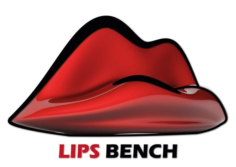 Lips Bench - Happy Valentine Day