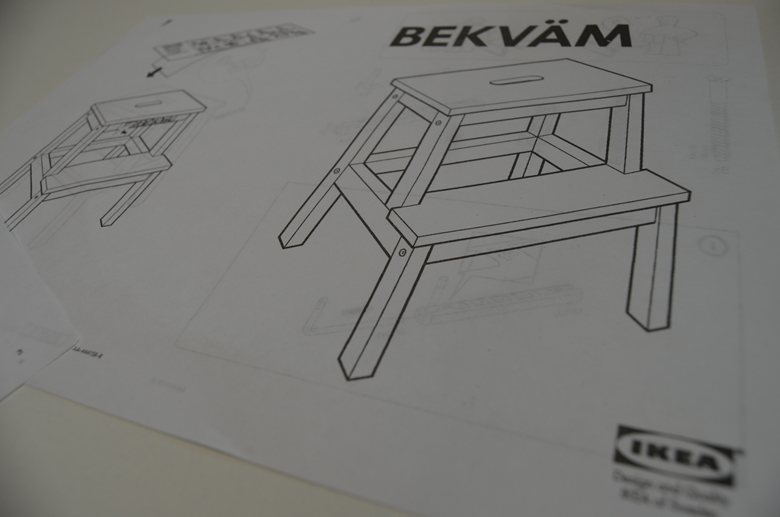 Simple ikea bekvam step stool assembly