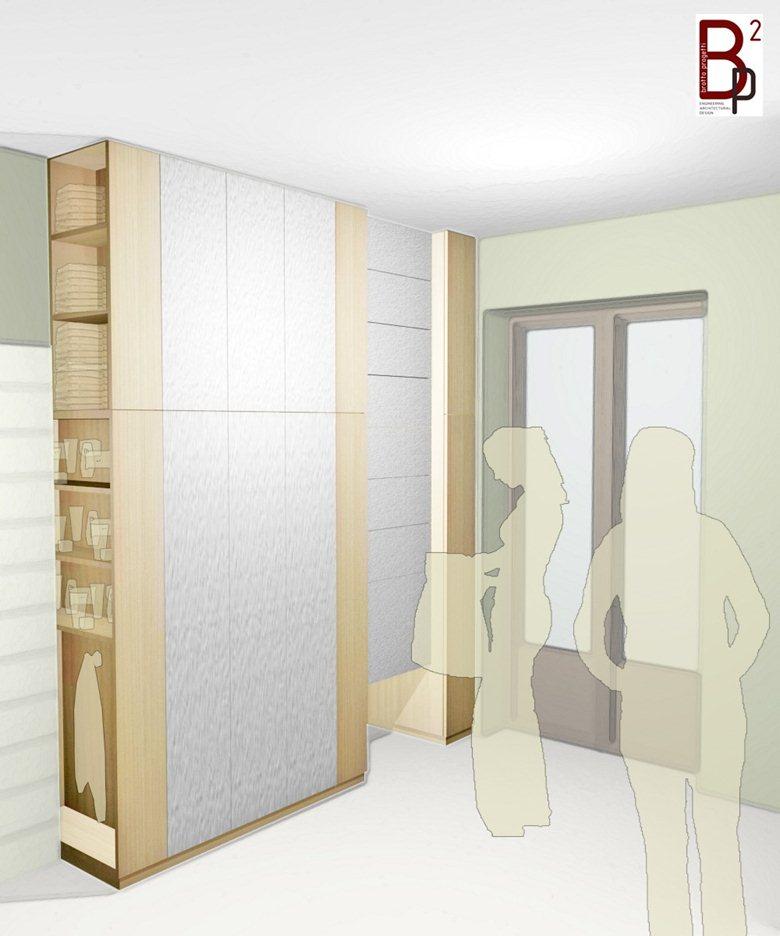 Studio armadio per interni bp2 progetti for Armadio studio