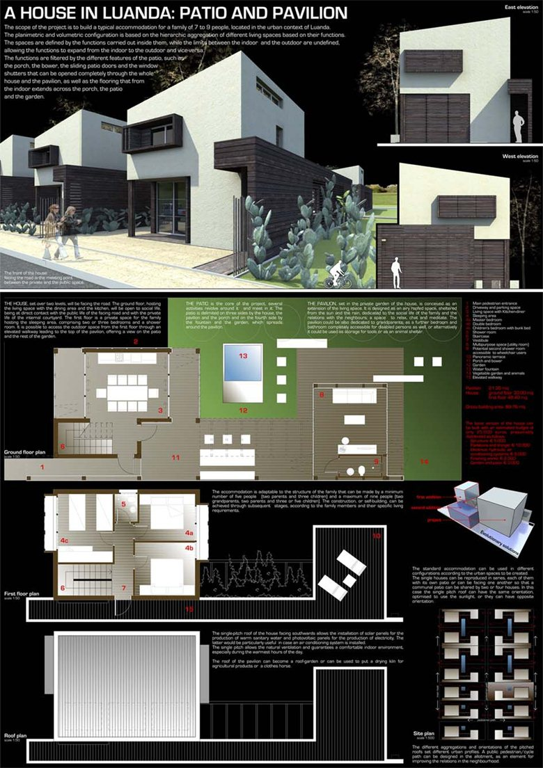 A House in Luanda:Patio and Pavilion