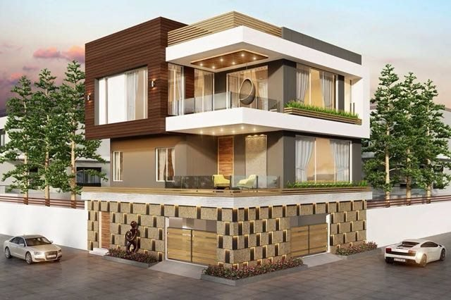 private residence at road corner