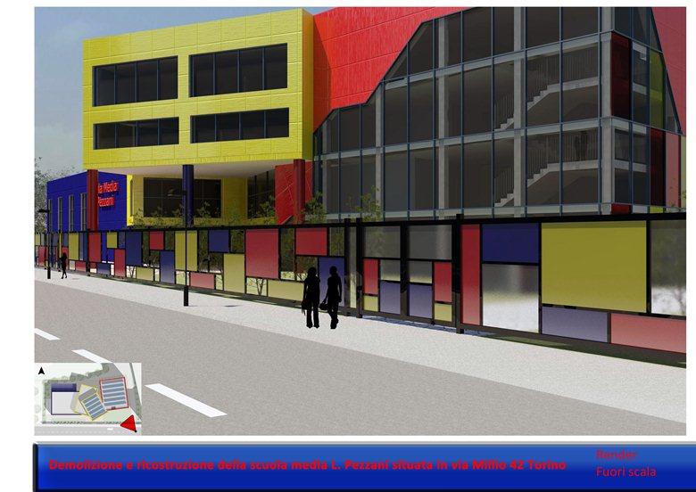 Demolizione e ricostruzione della scuola media L. Pezzani