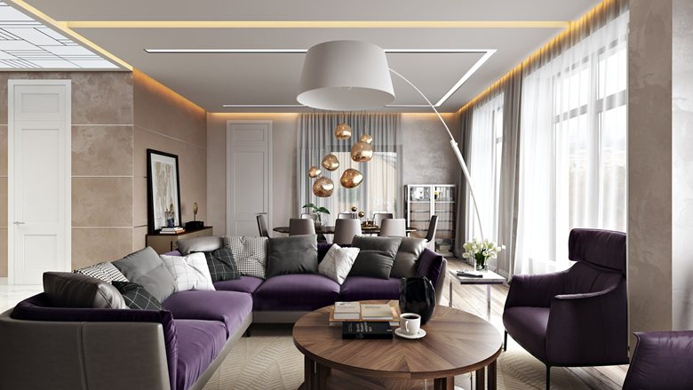 Apartment Interior Rendering For A Comfortable Design
