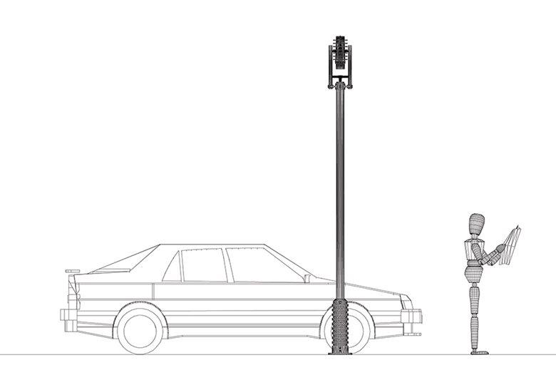 """Concorso di Idee - Progetto per un apparecchio illuminante denominato """"Via Veneto"""" - Roma"""
