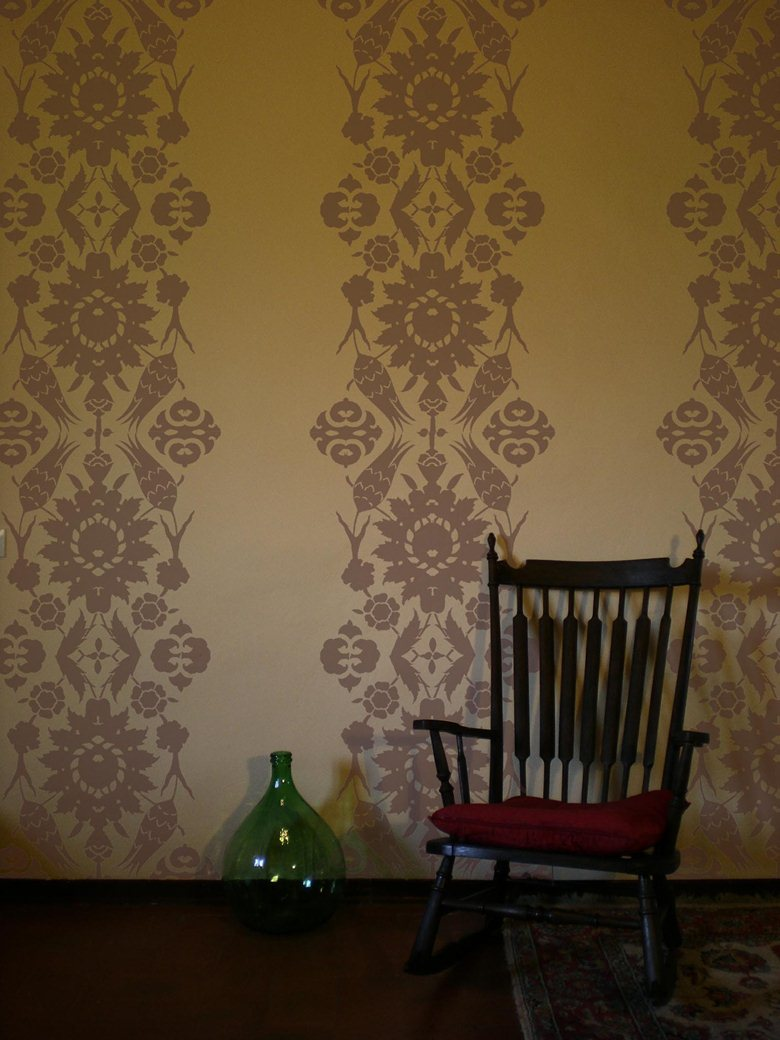 Over-wall stencil