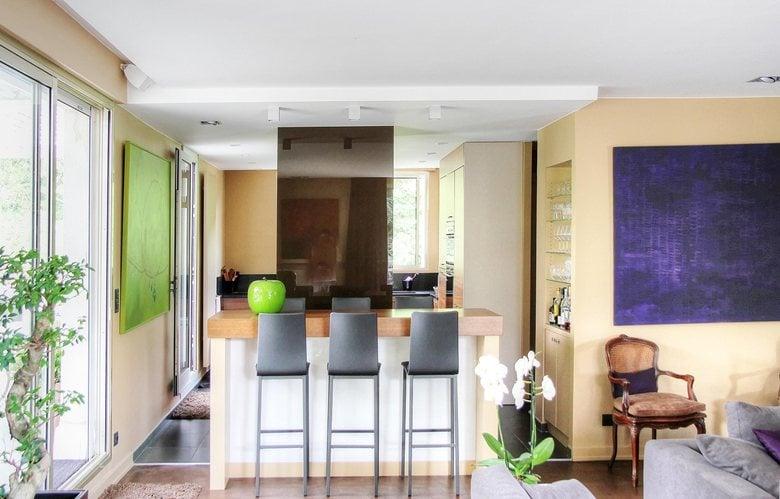 renovation d'un grand appartement terrasse