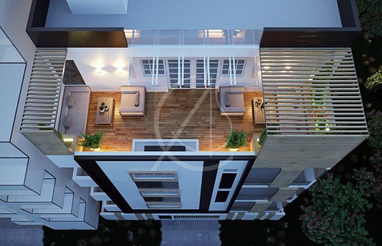 . Vijaya Sky Residency Modern Apartment Exterior Design   Comelite