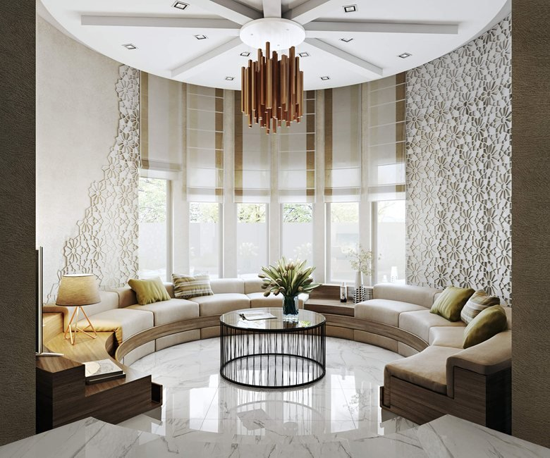 Realistic Rendering For Impactful Living Room Design Presentation