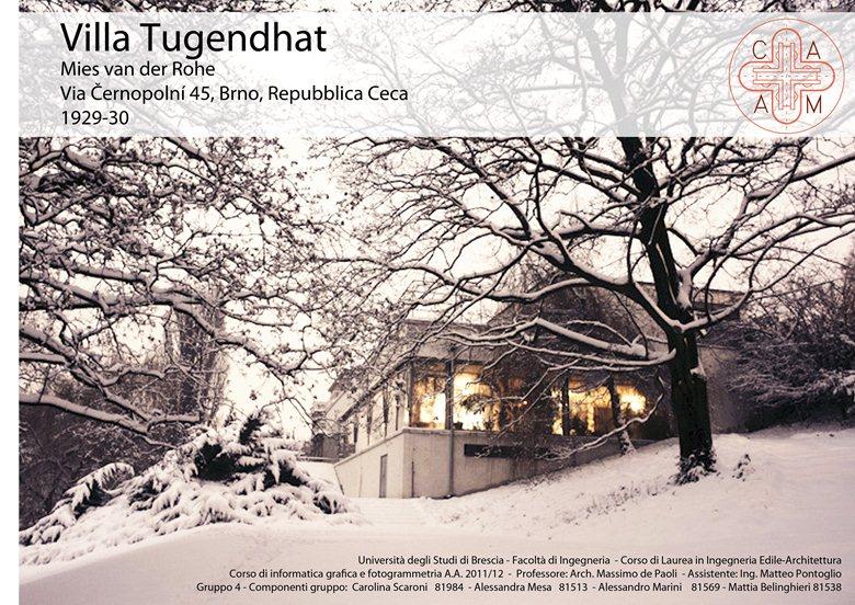 Studio e restituzione grafica di Casa Tugendhat by Mies Van der Rohe