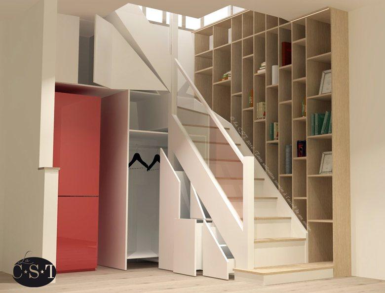 Aménagement d'un escalier