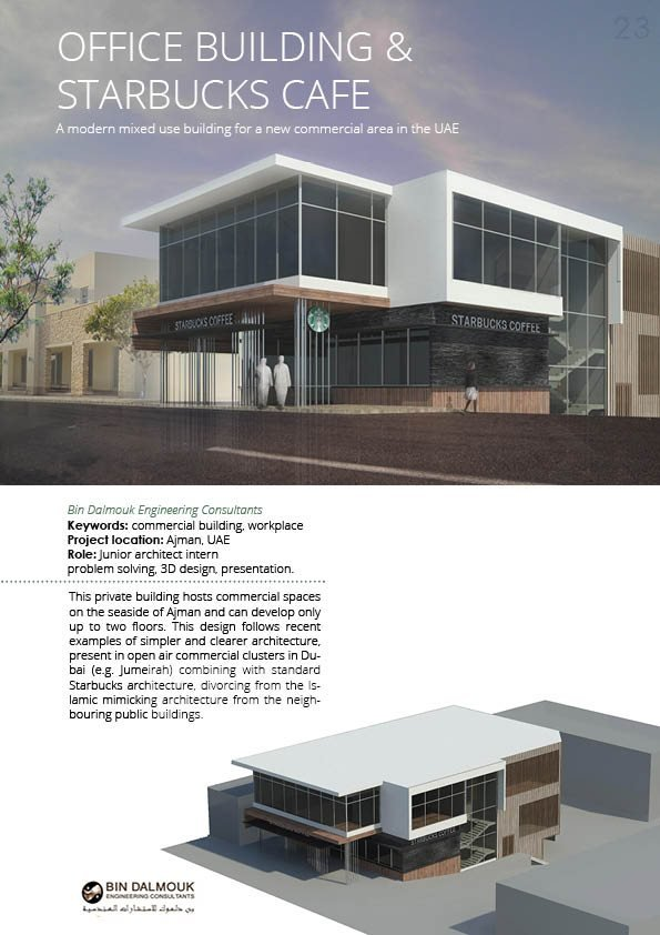 Starbucks Cafe And Office Building Ilektra Papadaki