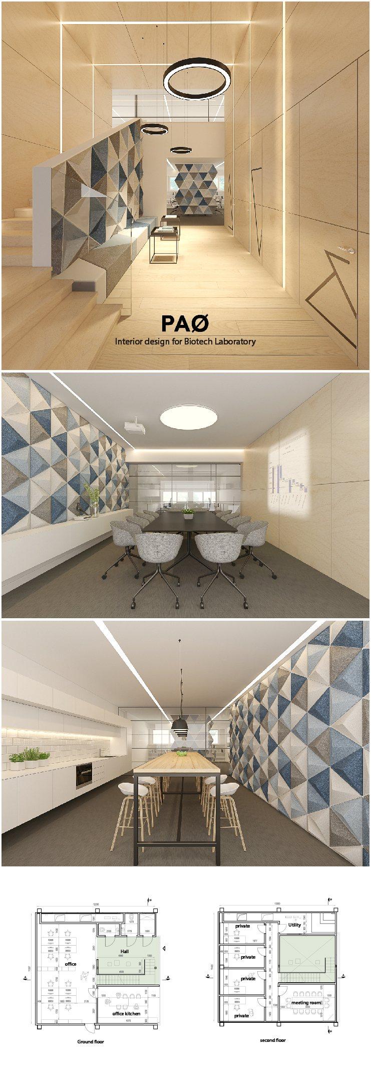 Modern office interior BOD - 200 sq.m. | 2150 sq.ft.
