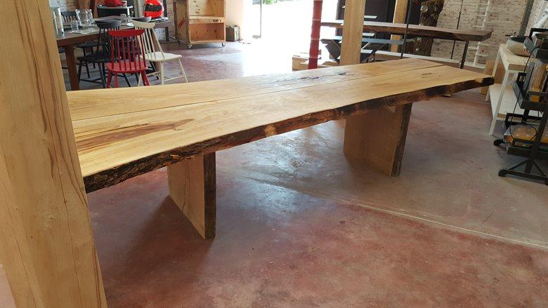 Tavolo taglio tronco in legno massello Wooden Trunck