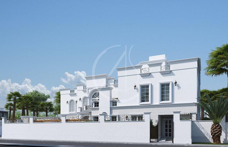 Classic Saudi Arabian Villa Exterior Design Comelite Architecture
