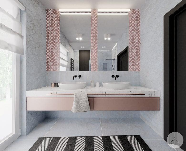 Bathroom in pink