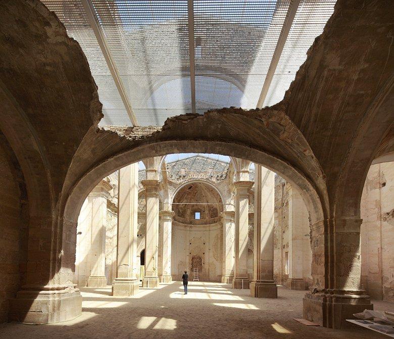 Huge skylight church