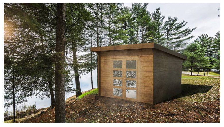 Prefabricated wooden cabins
