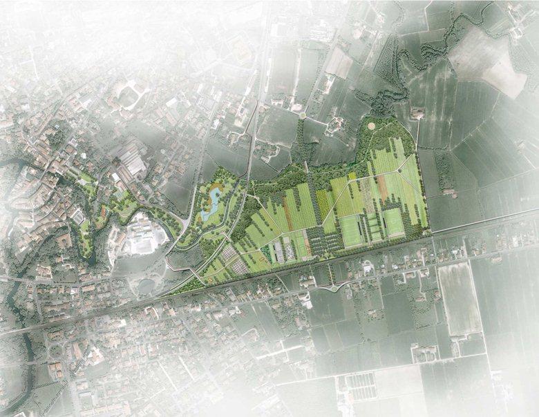 Fruizione aree a Parco Urbano e a Parco dello Sport: definizione funzioni e collegamenti