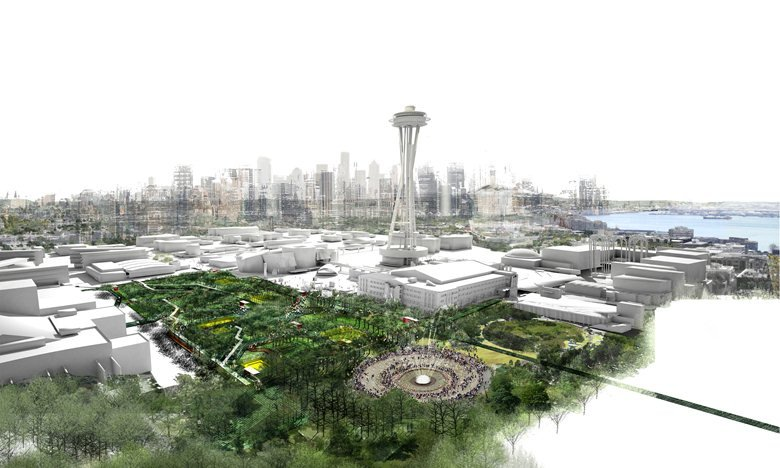 Emerald city hub: urban playground