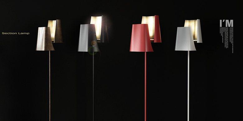 Section Floor Lamp
