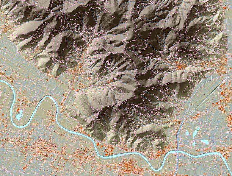 DTM, ortofoto e plastici del Monte Pisano