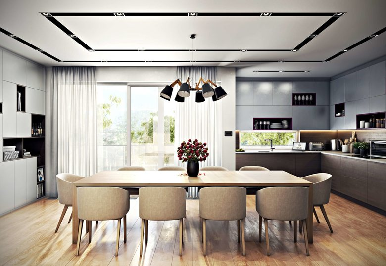 Kitchen Interior 3D Rendering for Ultimate Sophistication  By