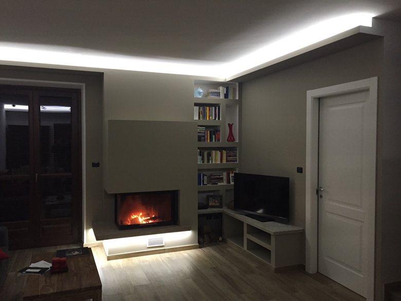 Fireplace & book