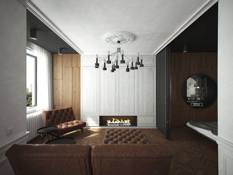 "Interior of the apartment in the ""Zapadnoye Kuntsevo"" quarter"