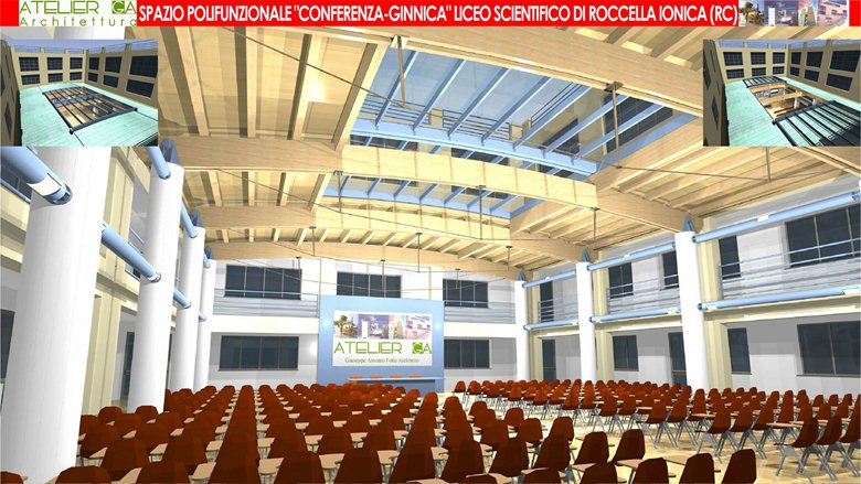 Aula Polifunzionale Liceo Scientifico di Roccella Jonica (RC)