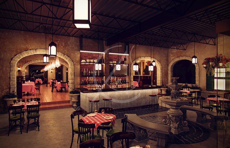 Restaurant Interieur Design.Venezia Italian Restaurant Interior Design Comelite