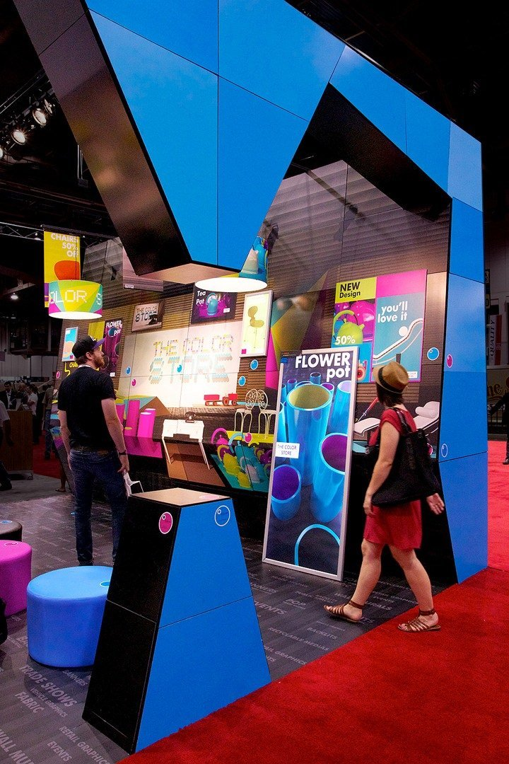 The HP Latex Atmosrphere Experience stand