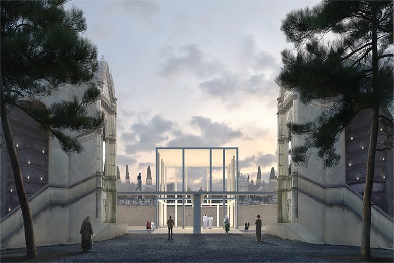 Concorso di idee per uno spazio ecumenico nel cimitero monumentale  di Caltagirone (Ct)  PRIMO PREMIO