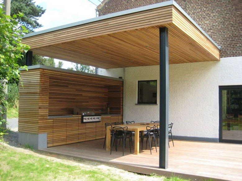 Terrasse couverte | Hervé Vanden Haute