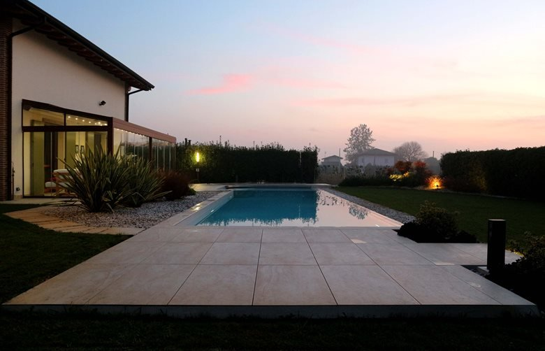 Rural garden with swimming pool