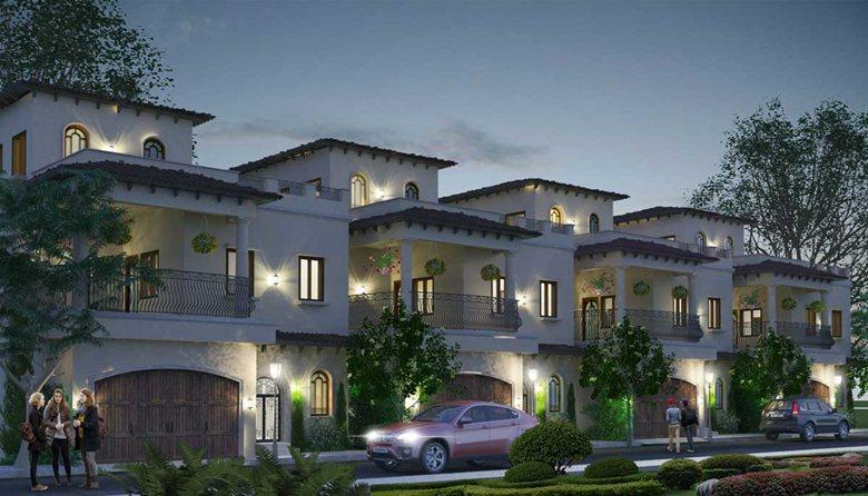 mesmerizing spanish style homes architecture   Villa Architecture Design-Spanish Style Twin Houses ...