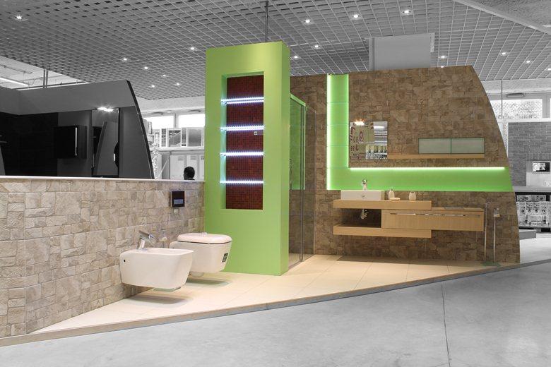 Showroom Arredo Bagno.Luca Olivero Interior Designer Turin Italy