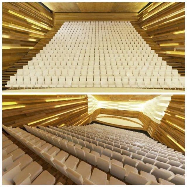 interior of concert hall