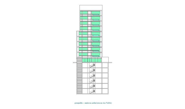 Torre residenziale a Milano  - in via Tellini
