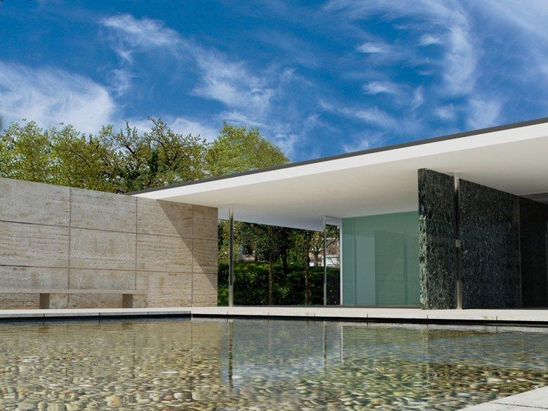 Barcelona Pavilion -  Ludwig Mies van der Rohe - MODELLO E RENDER