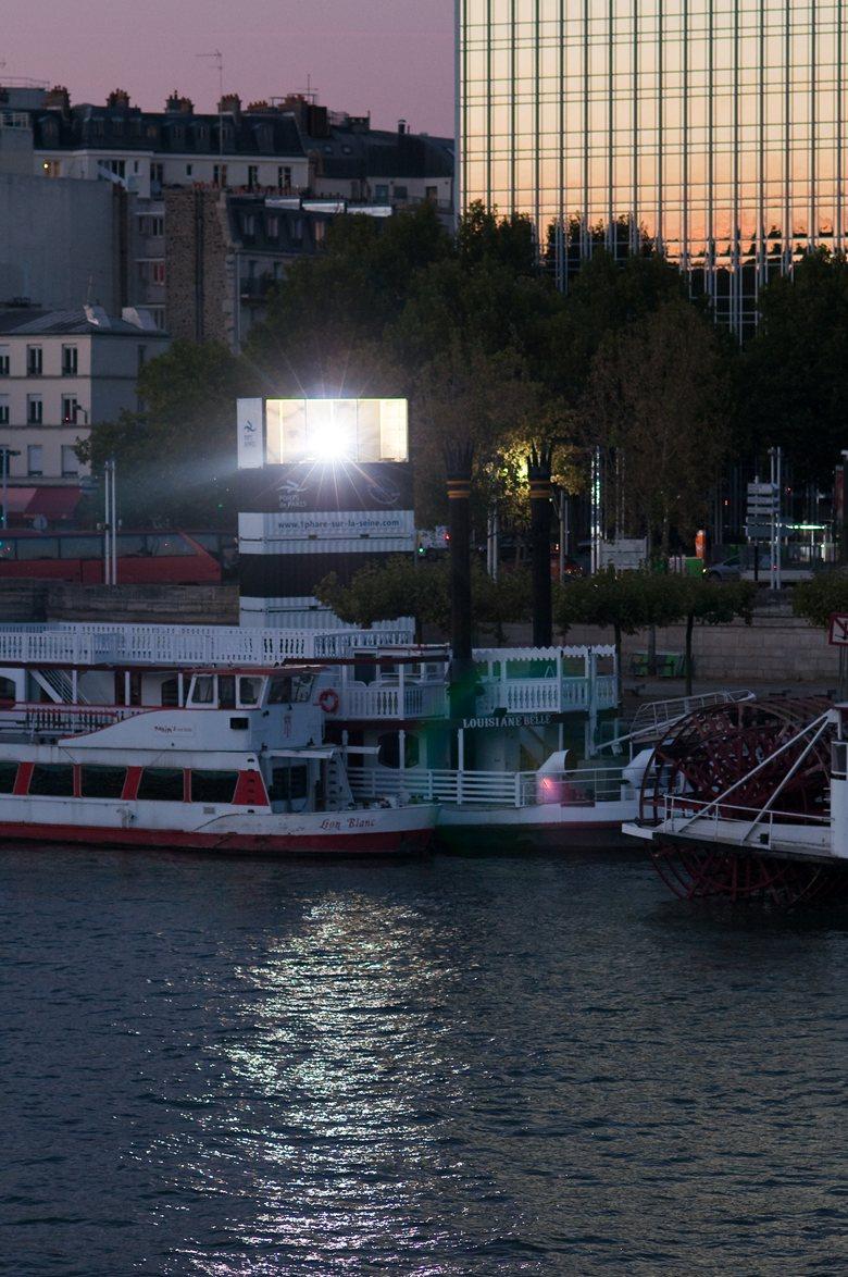 Mobile lighthouse Paris