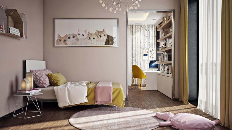 3ds max Architectural Visualization For Child's Bedroom | Archicgi com