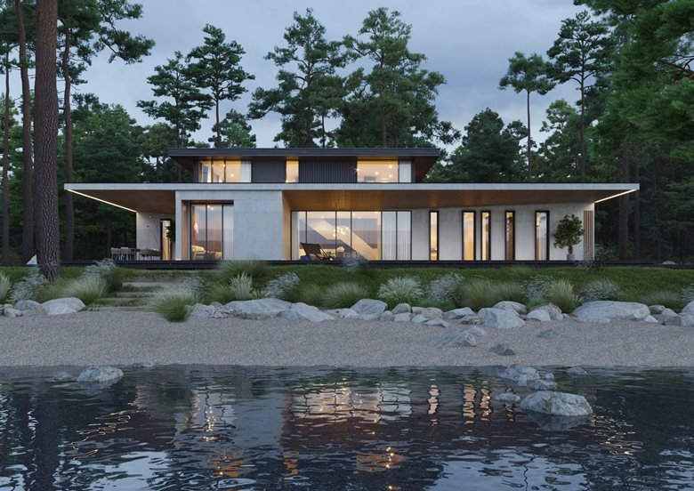 The villa on the river