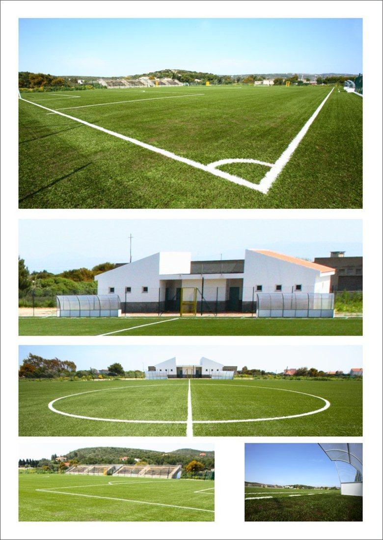 realizzazione del campo di calcio in erba sintetica a carloforte (CI) in Sardegna