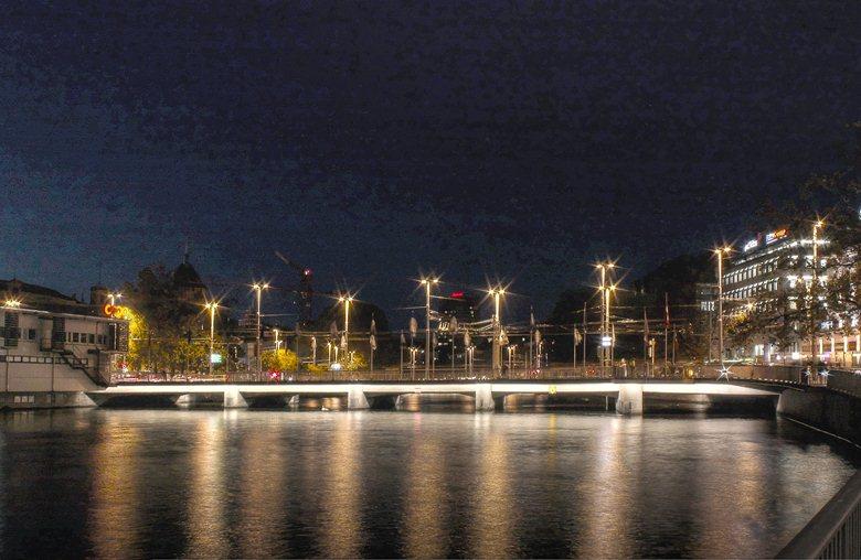 illumination Bahnhofbrücke, zürich