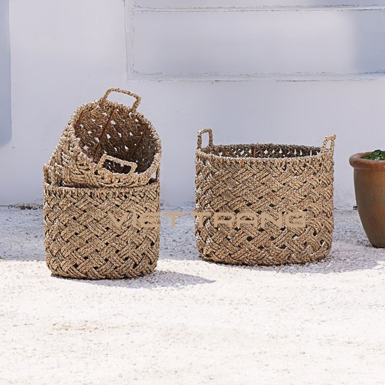 Oasis Seagrass Storage Basket With Handles 10