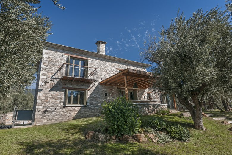 Stone holiday house … through the olive trees …
